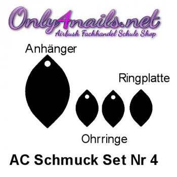 Acryl Schmuck Set Nr 4  Black Edition
