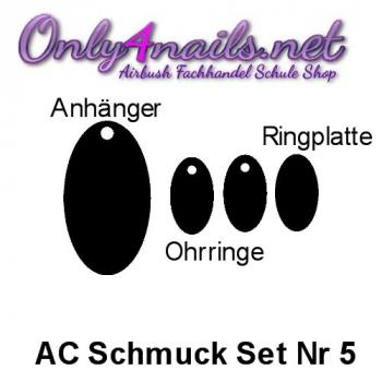 Acryl Schmuck Set Nr 5  Black Edition