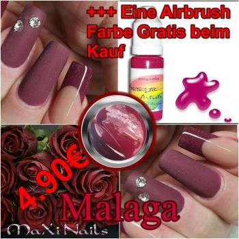 Malaga 5ml Color Gel + Airbrush Farbe Gratis