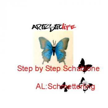 Airbrush Step by Step A4 Schablone AL Schmetterling