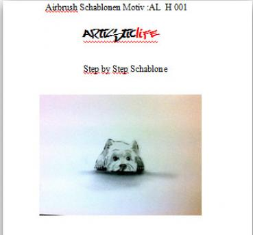 Airbrush Step by Step A4 Schablone AL-H001