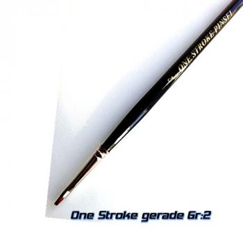 Pinsel One Stroke gerade Gr 2