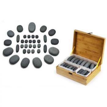 Hot Stone Set Reflexzonenmassage mit 35 Hot Stones